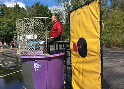 Dunk Booth at Elliott Family Day 2018