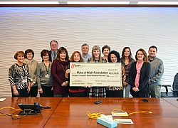 Elliott's Make-A-Wish Committee presents 2015 donation to officials from Make-A-Wish, Greater Pennsylvania and West Virginia