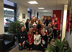 Text Santa Silchester Ugly Jumper Contest